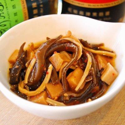 黑木耳菇菇醬 x 紅椒麻辣 @ 嗆辣口感、純素拌醬、家常美味