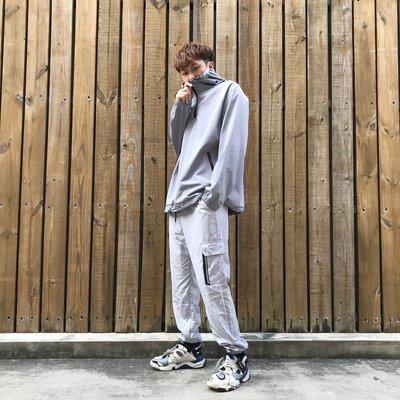 【inSAne】韓國購入 / 防潑水 / 機能 / 套頭 / 衝鋒外套 / 單一尺寸 / 黑色 & 灰色