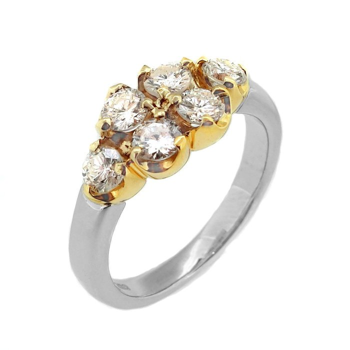【JHT金宏總珠寶/GIA鑽石專賣】1.06ct天然造型鑽戒/材質:PT900.18K(JB43-A07)