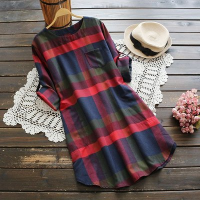 格紋洋裝連身裙另有洋裝百褶裙輕薄涼感上衣T恤雪紡襯衫玫瑰粉女包短褲長褲裙牛仔褲小外套ZO