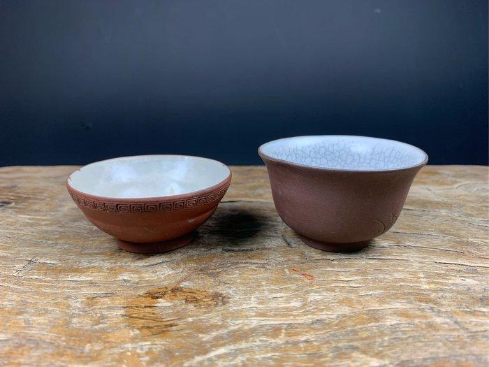【阿鴻之寶】清朝紫砂杯 二個一組