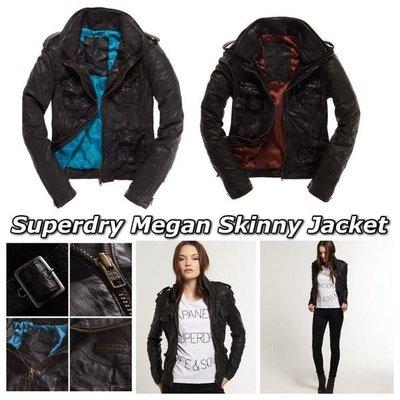 極度乾燥 Superdry Megan Leather Jacket 復古抓皺 真皮 皮衣 外套 厚實牛皮 零碼特價