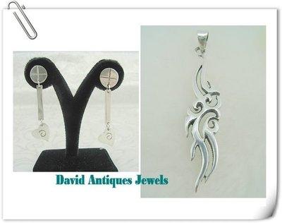 ((天堂鳥)) 925純銀造型耳環&純銀中性流線墜飾 不二價