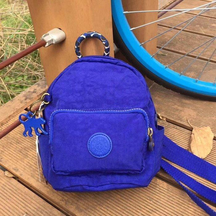 Kipling 猴子包 mini 12673 寶藍 多用肩背斜背輕量雙肩後背包 小號 防水 限時優惠