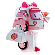 Silverlit Robocar Poli Transforming Robot with Lighting - Amber (5 inches Tall)