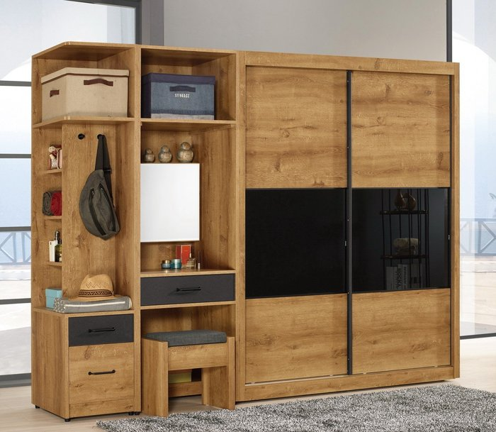 費利斯8.3尺拉門衣櫃/功能化妝台😊暖暖屋傢俱傢飾😊