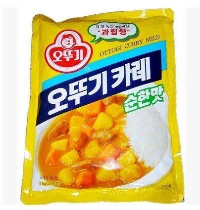 韓國不倒翁咖哩粉微辣1kg~天然香料製成的咖哩韓國OTTOGI咖哩粉