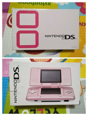 『懷舊電玩食堂』《正日本原版》【NDS】實體拍攝 NDS 粉色主機+盒書