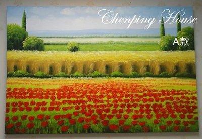 ~誠萍生活家具~無框重油彩油畫 花園系列~直購價$1090