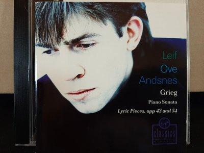 Andsne,Grieg-P.s,Lyric Pieces,安德絲涅斯,葛利格-鋼琴奏鳴曲,抒情小品集,如新。