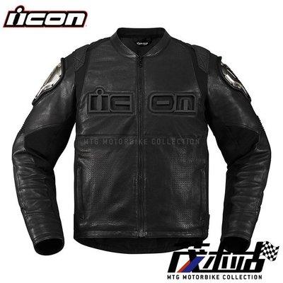 ❖茂木站 MTG❖ICON LEATHER TIMAX 皮衣 夾克 鈦滑塊 鈦 透氣 防摔衣 D3O 護具。黑