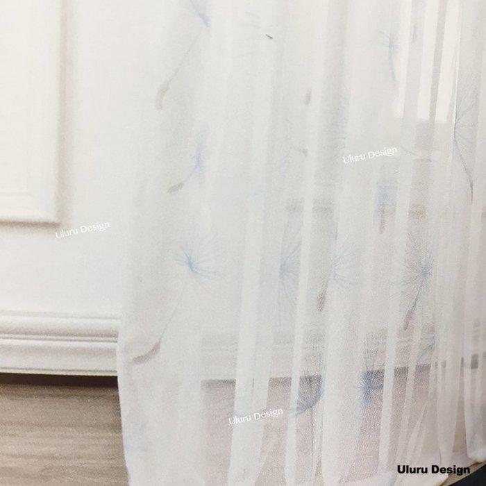 【Uluru】北歐風格窗紗 Dandelion 蒲公英 白色窗紗 訂製窗簾 捲簾 羅馬簾 波浪簾 S簾 蛇型 窗簾