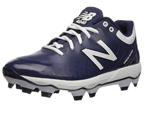 【一軍運動用品-三重店】NEW BALANCE 壘球鞋藍白 膠釘鞋 PL4040N5-2E