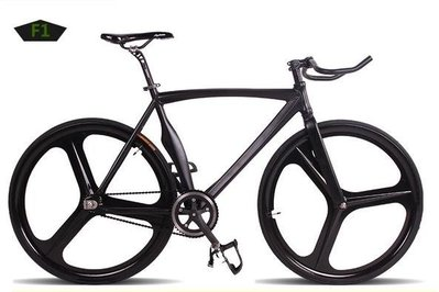 【河馬單車】公路車 單車 自行車 單速車 死飛車 鋁合金 肌肉車架 三刀圈 倒騎 F1