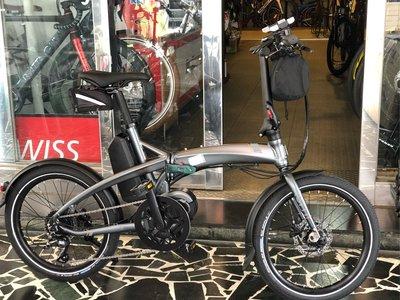 (J.J.Bike) Tern Vektron D8 電動折疊輔助自行車 10秒收折 20吋 Bafang 中置馬達 騎乘驅動更順暢 一般續航約90公里
