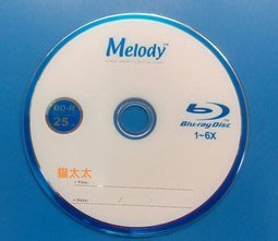 貓太太【3C電腦賣場】Melody 6X BD-R 25GB 藍光燒錄片 (50片裝) 台南市