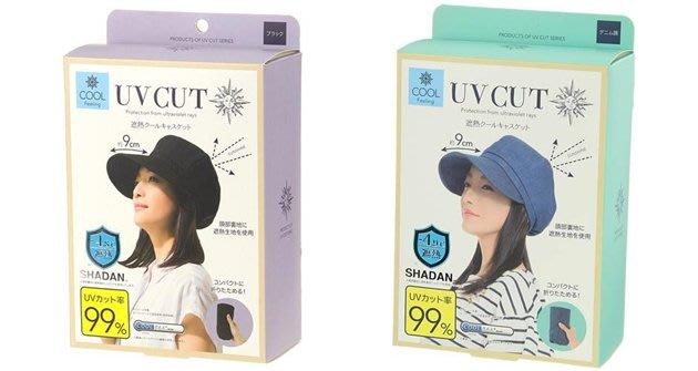 【東京速購】日本 Shadan UV Cut 涼感 防曬 遮陽帽 折疊收納 貝雷帽 (黑/藍)