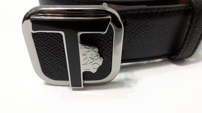 TODS(TOD'S) 義大利製 全新 限量LOGO款 黑色 牛皮 腰帶 附購入時發票影本 可用三 倍 振 興卷