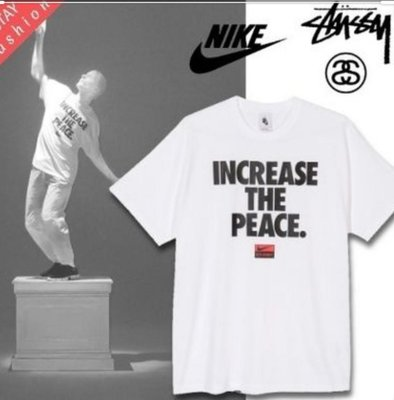 Nike x Stussy Increase The Peace Tee White 門市購入附發票 M號