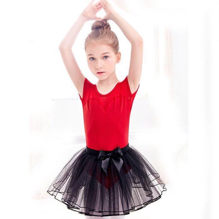 5Cgo【鴿樓】兒童芭蕾舞舞蹈服仙氣蓬蓬紗裙女童夏季練功服分體套裝棉女童幼兒民族芭蕾形體服572955177018
