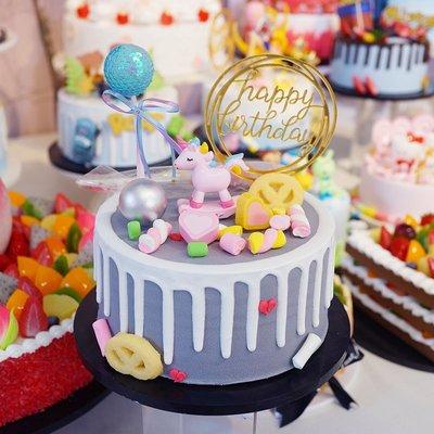 精緻小店.Fine shop--來圖定制獨角獸仿真生日假蛋糕模型新款歐式創意網紅蛋糕店樣品