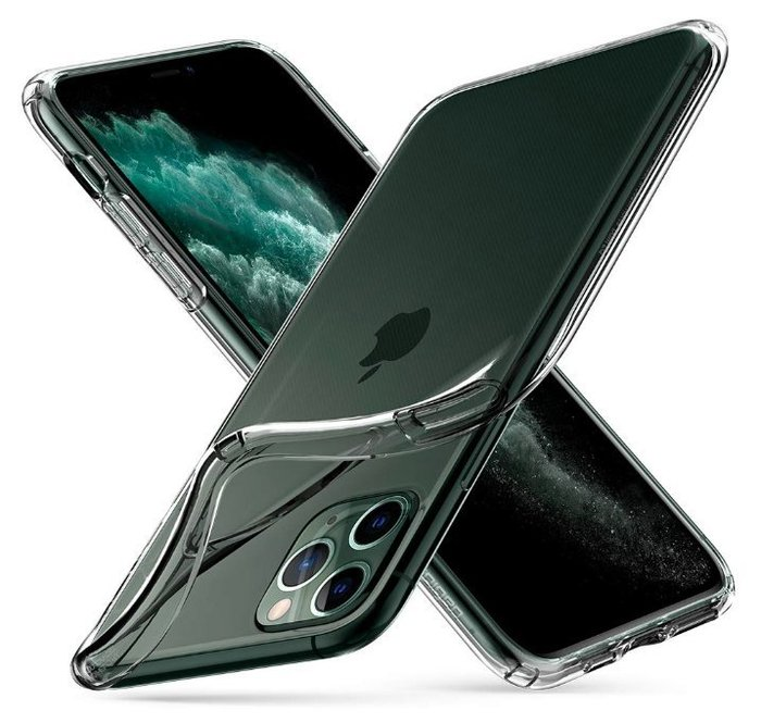 《FOS》日本 Spigen iPhone 11 Pro Max 超薄型 透明 手機殼 保護殼 防震 防摔 防刮 新款