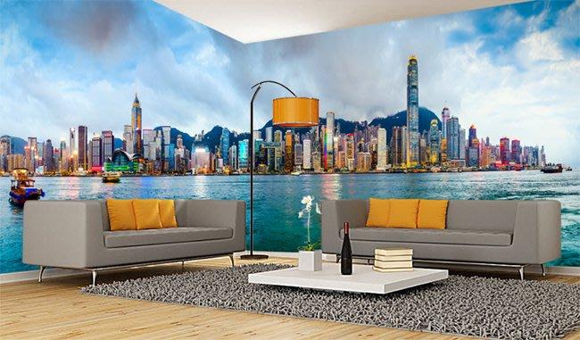 客製化壁貼 店面保障 編號F-754 濱海城市 壁紙 牆貼 牆紙 壁畫 背景牆 星瑞 shing ruei