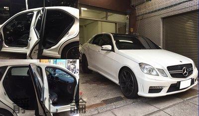 ☆久豆麻鉄☆ Benz W212 E200 E250 可用 (四門氣密) 全車隔音套組 汽車隔音條 靜化論 芮卡國際