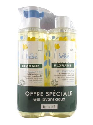 Klorane 蔻蘿蘭 寶寶洗髮沐浴精 500ml*2瓶 2021。法國原裝新包裝