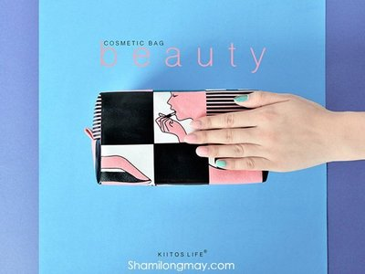 HAPPY+【V5342】日系 韓國 Kiitos BEAUTY系列 化妝包 雜物包 收納包 置物包 錢包 收納袋 五款
