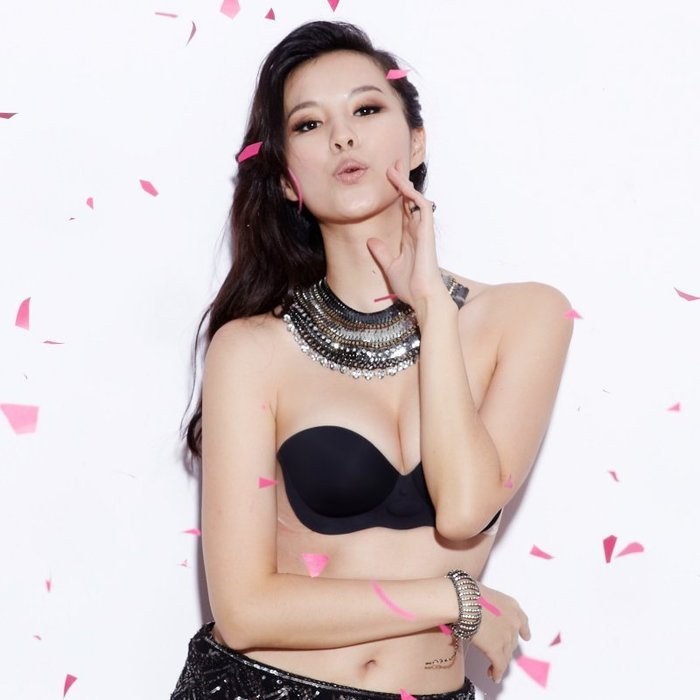 【波波小姐官方直營】 氣浮式 無鋼圈 隱形內衣 香氛款(黑)