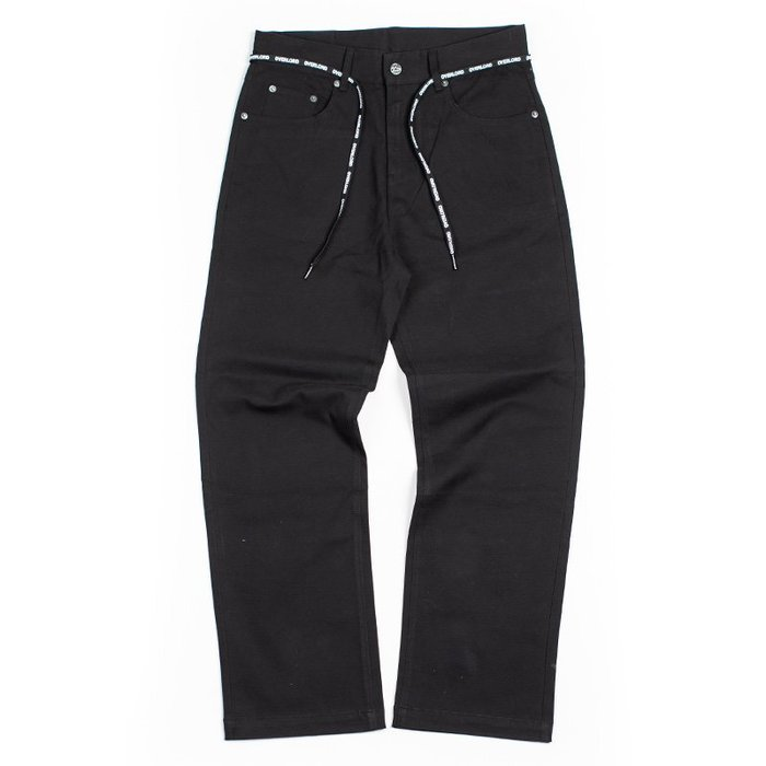 OVERLORD WORK ELASTIC PANT  直筒 滑板 工作 長褲