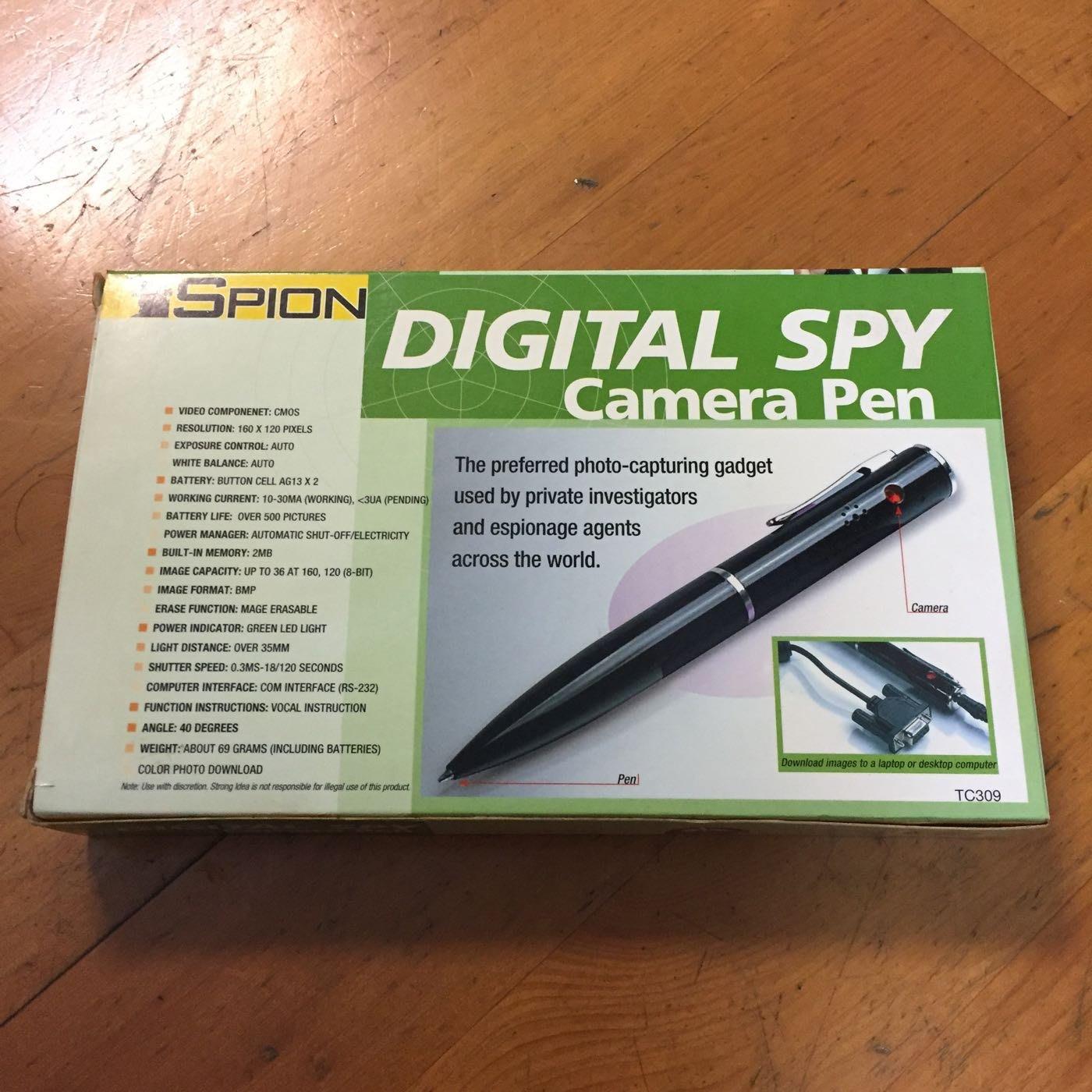 拍賣唯一!全新Spion Digital Spy Camera Pen TC309間諜針孔攝影照相筆!台北台中可面交!