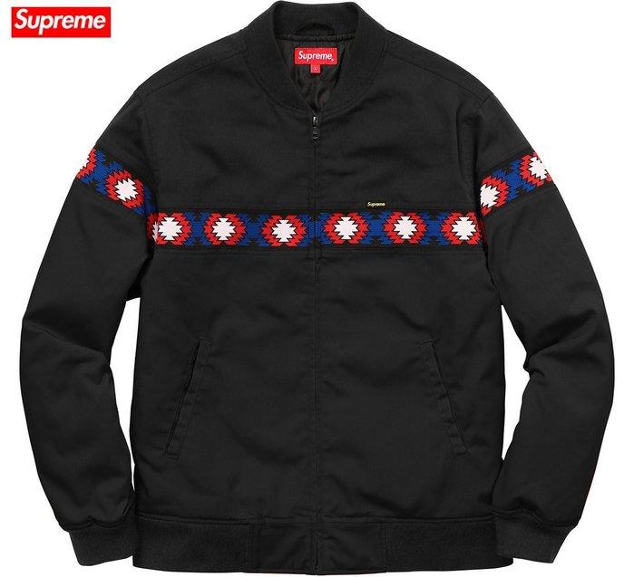 【超搶手】全新正品 2017 SS 最新 Supreme Trail Jacket 圖騰 Box 夾克 外套 黑色 S