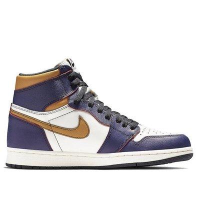 完售 Nike Air Jordan 1 High OG SB Defiant - Lakers 湖人 紫金