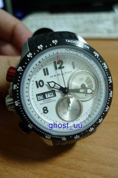 漢米頓 HAMILTON Khaki Tachymiler 運動 極速 航空 計時 碼錶 膠帶 黑白紅 44mm 大錶面 真品