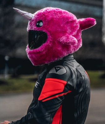 現貨【丹】A_Moto Loot Helmet Cover 安全帽套 芝麻街 粉紅鯨魚