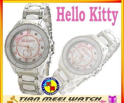 【全新原廠公司貨】【天美鐘錶店家直營】【下殺↘超低價有保固】日本Hello Kitty-LK576 限定高精密白陶瓷錶