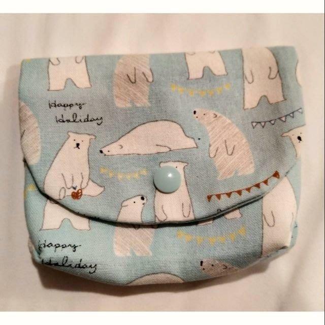 可愛北極熊錢包、面紙包 15*25*2公分