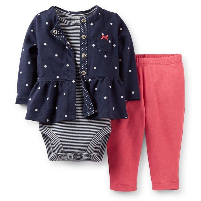 *Dou Dou House*美國進口Carter's童裝-休閒套組/包屁衣/外套/褲子-藍色-size:18(現貨)