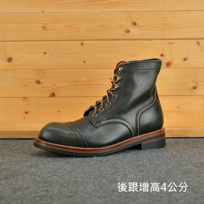 (快扣)墨綠黑 油蠟牛皮 厚底靴 木村拓哉 iron ranger RED WING8111版型 AG真皮製造