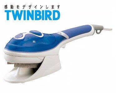 【大頭峰】日本TWINBIRD 手持式蒸氣熨斗(粉藍) SA-4084TW