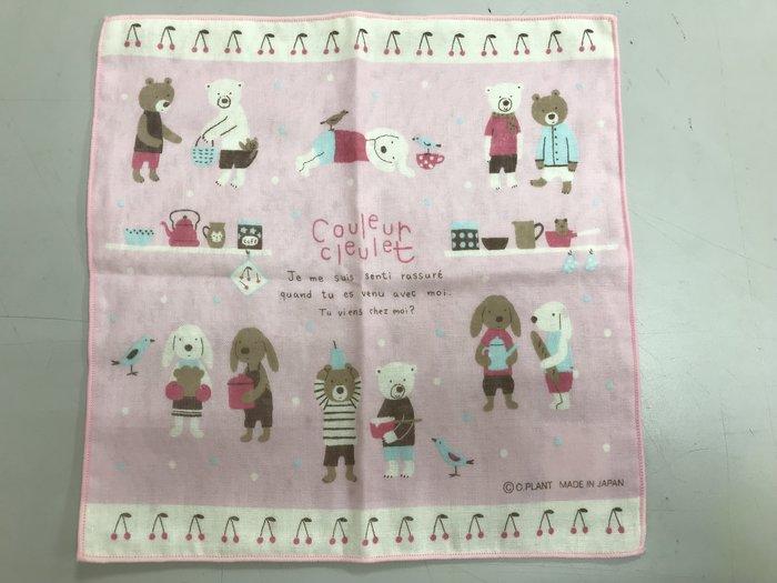日本 正版進口 Couleur cleulet 法國農莊 粉色櫻桃樂園方巾