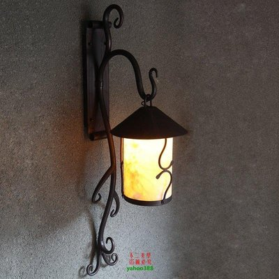 【美學】歐美式長桿云石大壁燈客廳復古做...