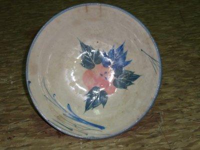您必須珍藏的台灣早期手繪牡丹胭脂紅花的老碗