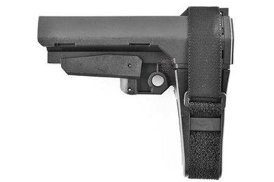 [01] SBA3 M4 AR15 戰術槍托 黑 ( 槍托後托BB槍M16 MP5狙擊槍UZI衝鋒槍M4卡賓槍AR步槍