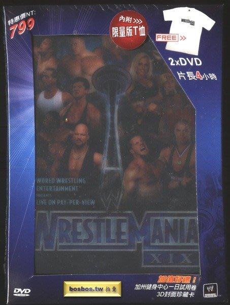 ◎全新雙片DVD典藏版贈送T恤!WWE摔角-摔角狂熱 XIX-班傑明.克里斯班瓦.送葬者等◎美式摔角-約4小時