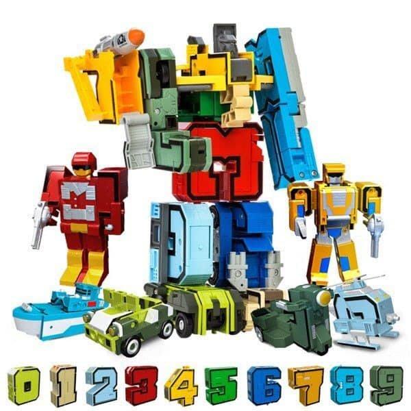 【好孩子福利社】加大版數字符號變形金鋼 益智玩具 組裝機器人 變形機器人