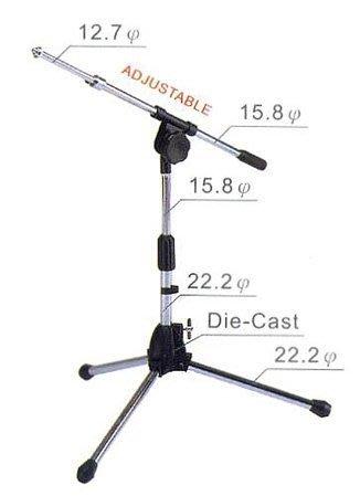 【六絃樂器】全新台灣製 YHY MK-160 斜撐短式麥克風架 / 工作站錄音室 專業音響器材