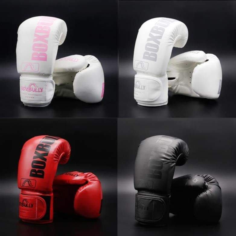 馨藝百貨透氣健身拳擊手套網紅專業少年拳手陪練小孩拳練拳新款沙包白色保